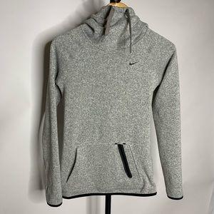 Nike Grey Fleece Cowl Neck Sweater Hoodie